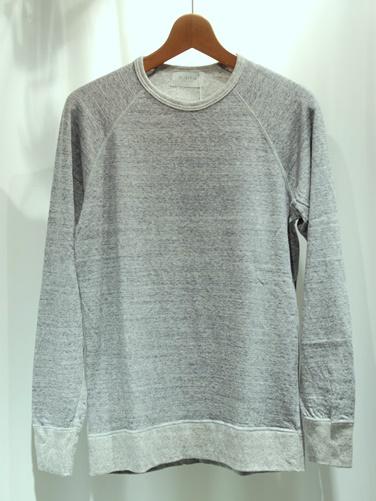 / (フリストフィア) Wool Short Sleeve Pull Over -Middle Gray- FLISTFIA
